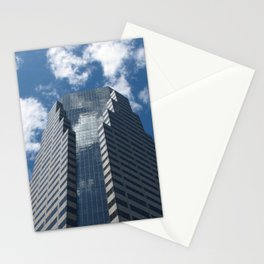 Building in blue Stationery Cards