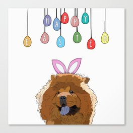 Happy Easter - Chow Chow Canvas Print