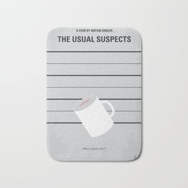 No095 My The usual suspects minimal movie poster Bath Mat