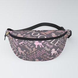 Poodle Word Art Fanny Pack