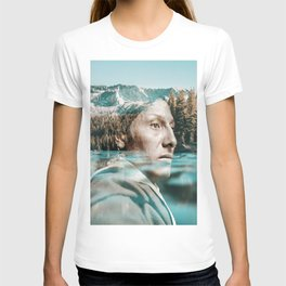 indian portrait double exposure T-shirt