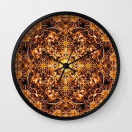 Molten Prism Mandala Wall Clock