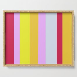 Striped Color Pastels Serving Tray