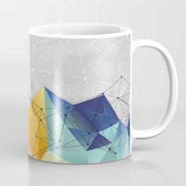 Polygons on Concrete Coffee Mug
