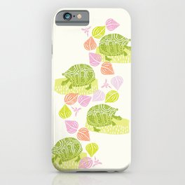 Turtles & Dragonflies iPhone Case