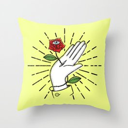 Artist hand Throw Pillow