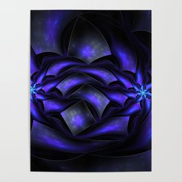 Surreal flowers fractal Poster