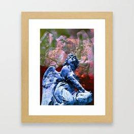 Io non cambierei il canto di un angelo - blue Framed Art Print