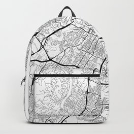 Austin Map White Backpack