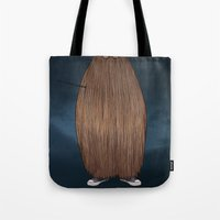 potter Tote Bags featuring Hairy Potter by AParry