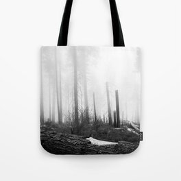 Misty Day at Sequoia National Park Tote Bag