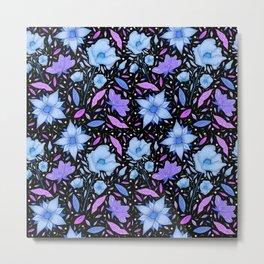 Forest flower blue Metal Print