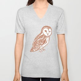 Barn Owl Art Unisex V-Neck