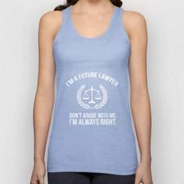 Funny Future Lawyer Tshirt Law School Student Shirt Unisex Tank Top
