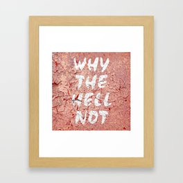 Why the hell not Framed Art Print