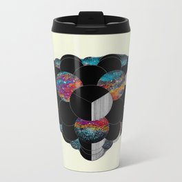 Figments of Black Flat Metal Travel Mug