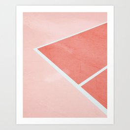 Courtside - living coral Art Print