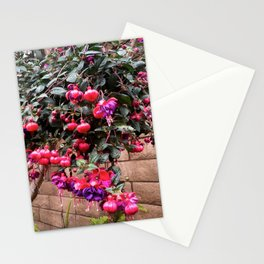 Fuchsia Color Flower Garden Stationery Cards