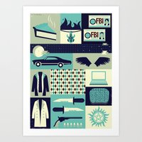 risa rodil Art Prints featuring Carry on my wayward son by Risa Rodil