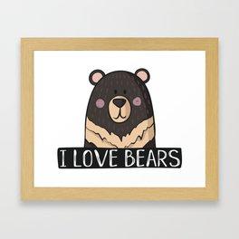 I Love Bears Framed Art Print