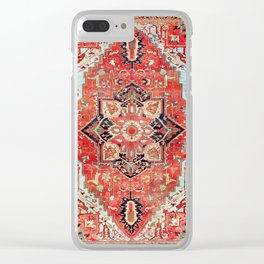 Heriz Azerbaijan Northwest Persian Rug Print Clear iPhone Case