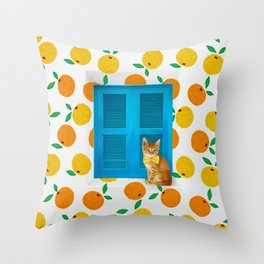How Much is that Kitty in the Window? Throw Pillow