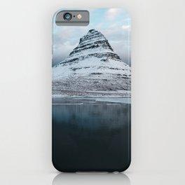 Iceland Mountain Reflection - Landscape Photography iPhone Case