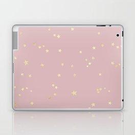 Pretty Pink & Gold Stars Laptop & iPad Skin