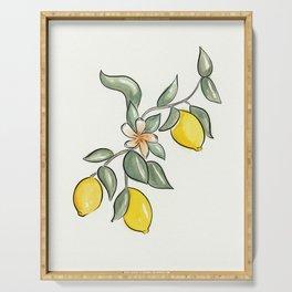 Lemon Branch Serving Tray