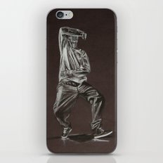 Black and White Drawing iPhone Skin