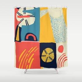 Suns Scandinavian Design Shower Curtain