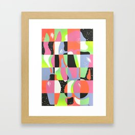 Woman with Plant: One Framed Art Print