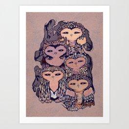 Day Owls Art Print