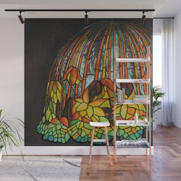 Dropping Flower Lamp Wall Mural