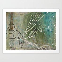 mandolin music Art Print