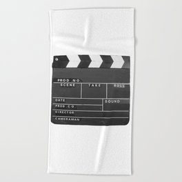 Film Movie Video production Clapper board Beach Towel