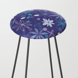 Blue Summer Counter Stool