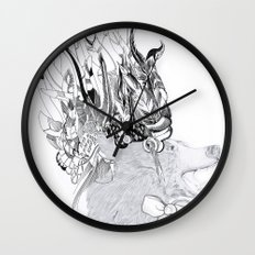 Cherokee Bear Wall Clock