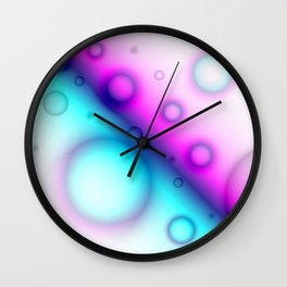 Bubbles Abstract Background G114 Wall Clock