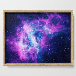 Dream Of Nebula Galaxy Serving Tray