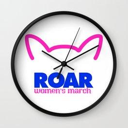Pink Pussy ROAR Wall Clock