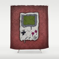 gaming Shower Curtains featuring Decay of Gaming by Nate Galbraith