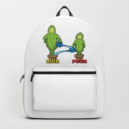 Rich And Poor Illustration - The Truth Backpack