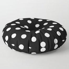 Black Polka Dots Palm Beach Preppy Floor Pillow