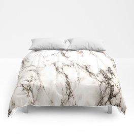 Brown Veined Marble Comforters