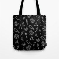 horror Tote Bags featuring HORROR  by Brukk