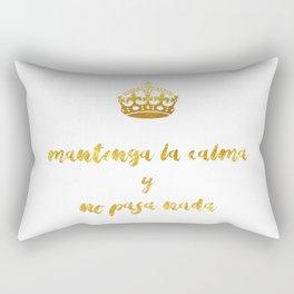 Mantenga La Calma | Keep Calm and Carry On Rectangular Pillow