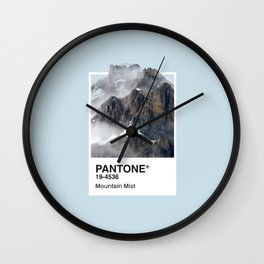 Pantone Series – Mountain Mist Wall Clock