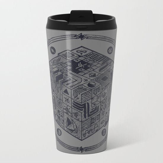 The Folly of Time and Space, Explained Metal Travel Mug