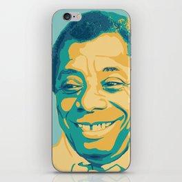 James Baldwin Portrait Teal Gold Blue iPhone Skin